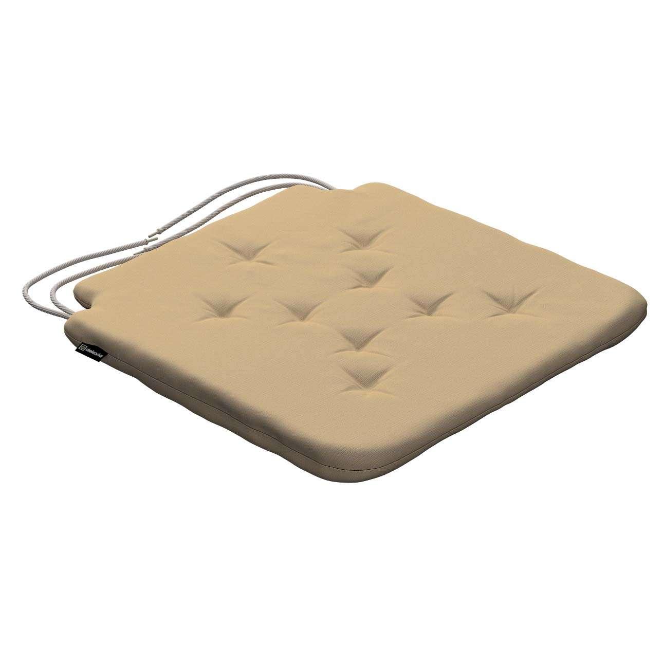 Siedzisko Olek na krzesło 42x41x3,5cm w kolekcji Cotton Panama, tkanina: 702-01
