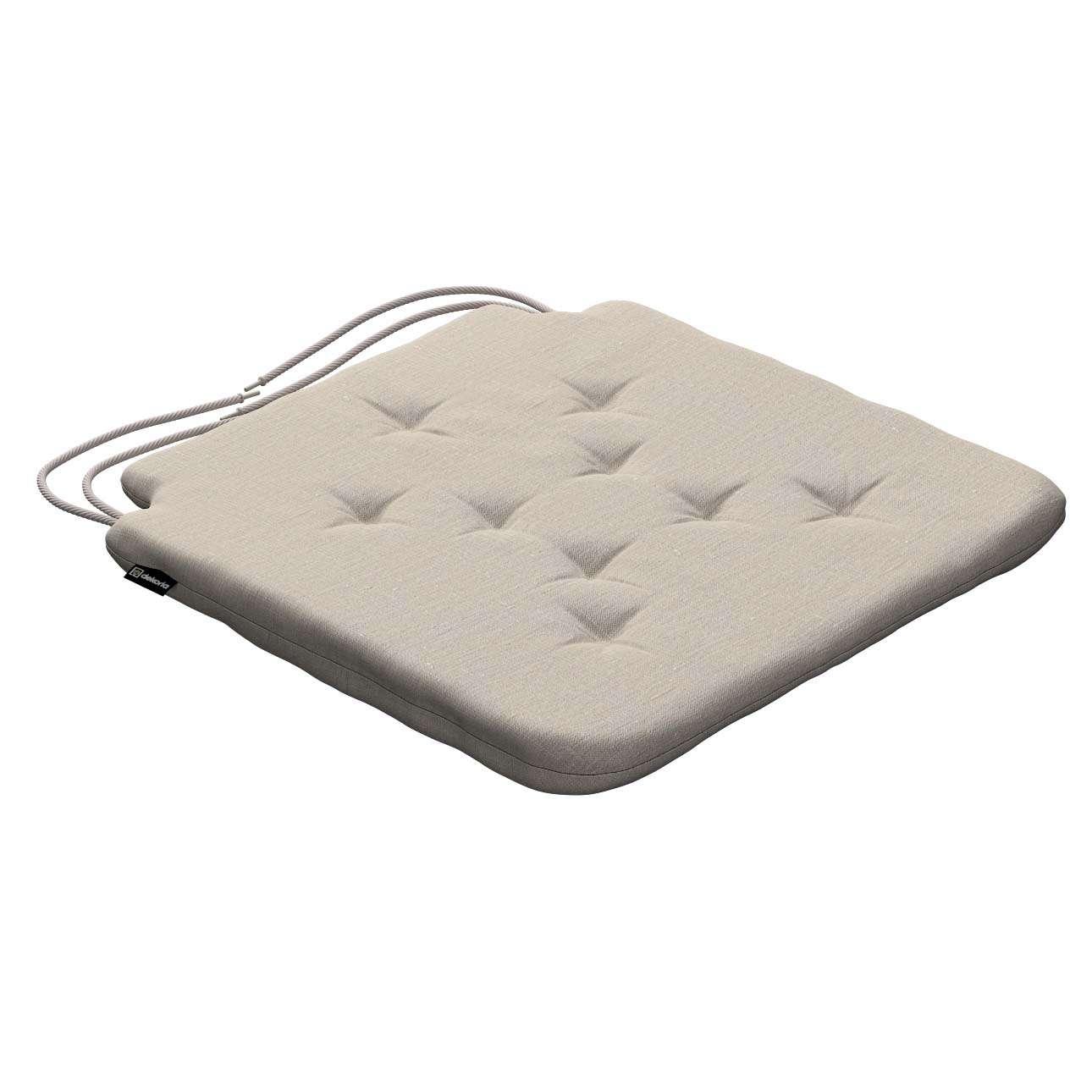 Siedzisko Olek na krzesło 42x41x3,5cm w kolekcji Linen, tkanina: 392-05