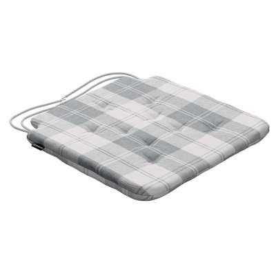 Siedzisko Olek na krzesło 115-79 krata szaro-biała Kolekcja Edinburgh