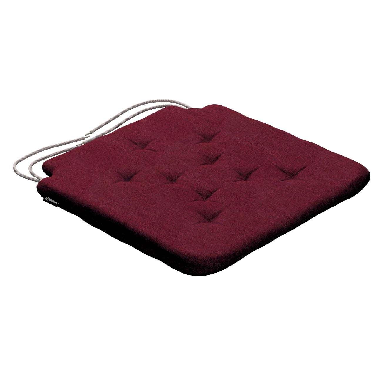 Siedzisko Olek na krzesło 42x41x3,5cm w kolekcji Chenille, tkanina: 702-19