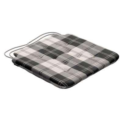 Siedzisko Olek na krzesło 115-74 krata czarno-biała Kolekcja Edinburgh