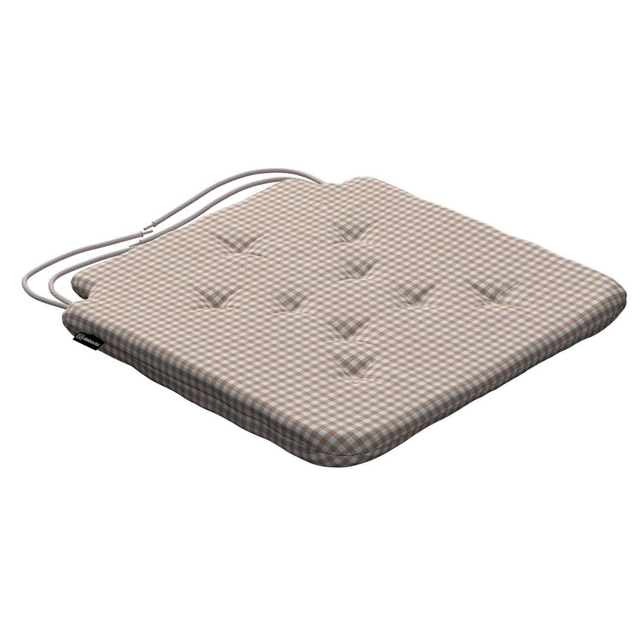 Siedzisko Olek na krzesło 42x41x3,5cm w kolekcji Quadro, tkanina: 136-05