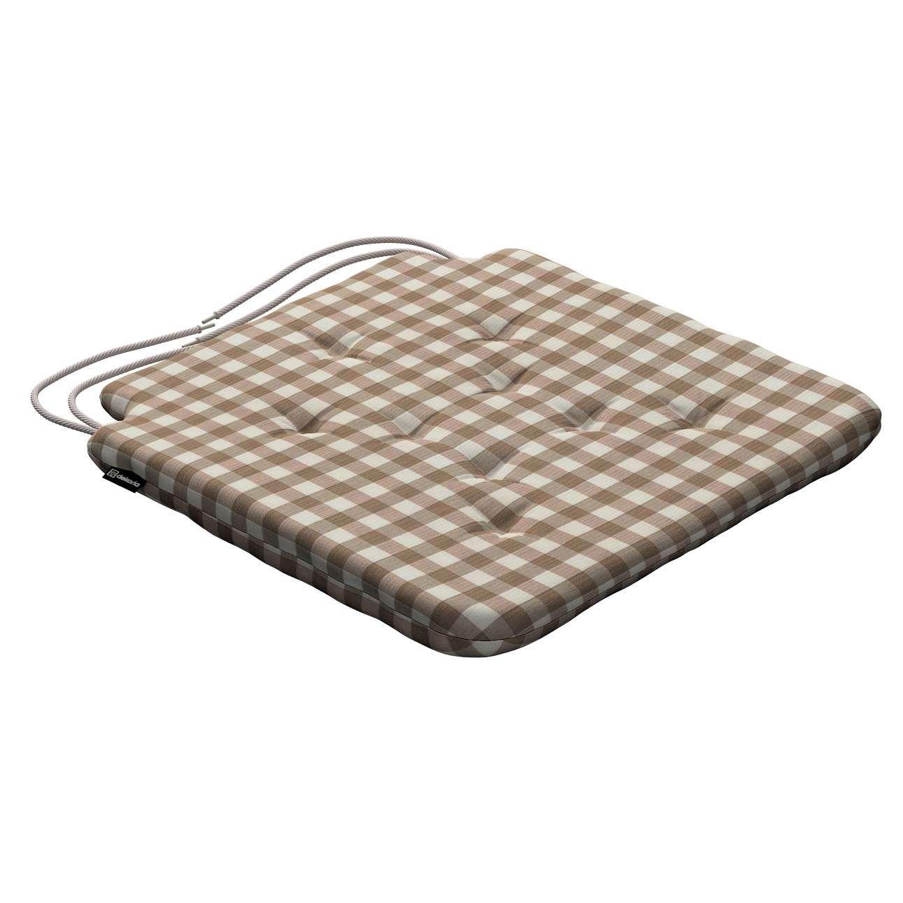 Siedzisko Olek na krzesło 42x41x3,5cm w kolekcji Quadro, tkanina: 136-06