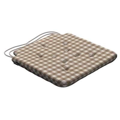 Siedzisko Olek na krzesło 136-06 beżowo biała kratka (1,5x1,5cm) Kolekcja Quadro