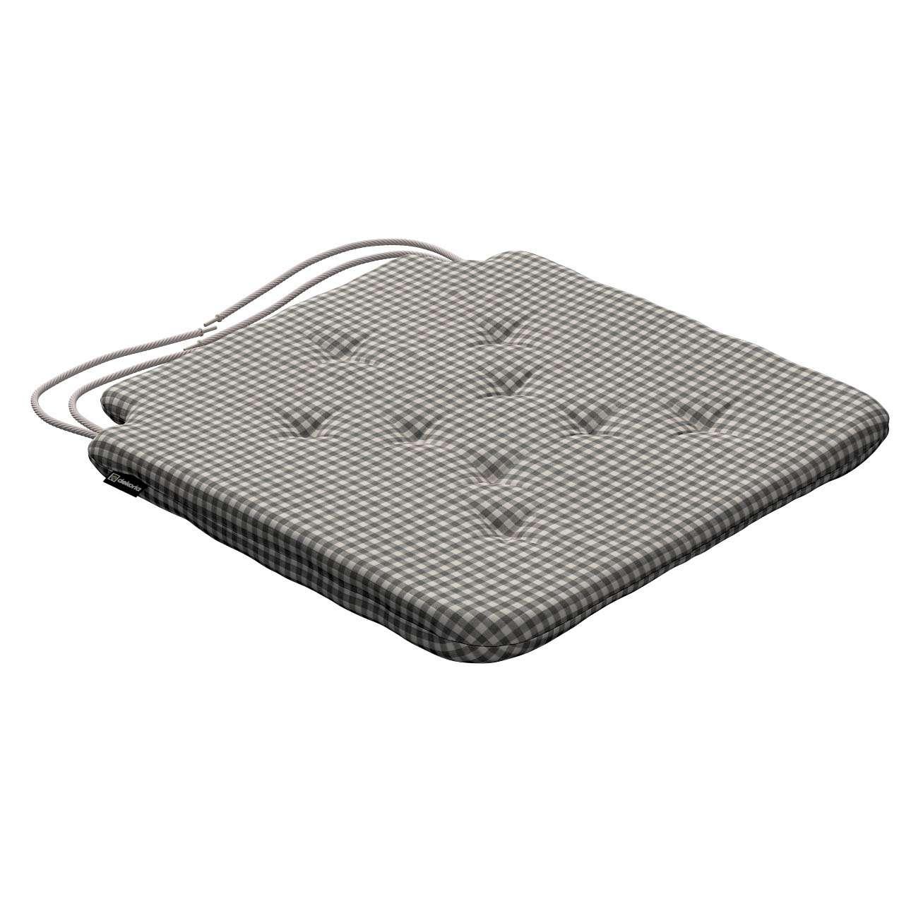 Siedzisko Olek na krzesło 42x41x3,5cm w kolekcji Quadro, tkanina: 136-10