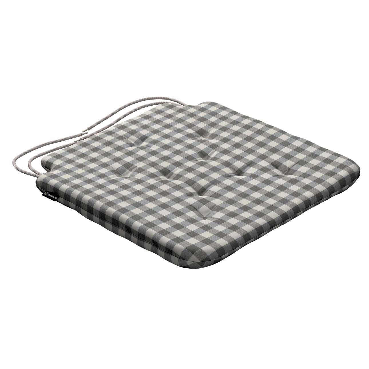 Siedzisko Olek na krzesło 42x41x3,5cm w kolekcji Quadro, tkanina: 136-11