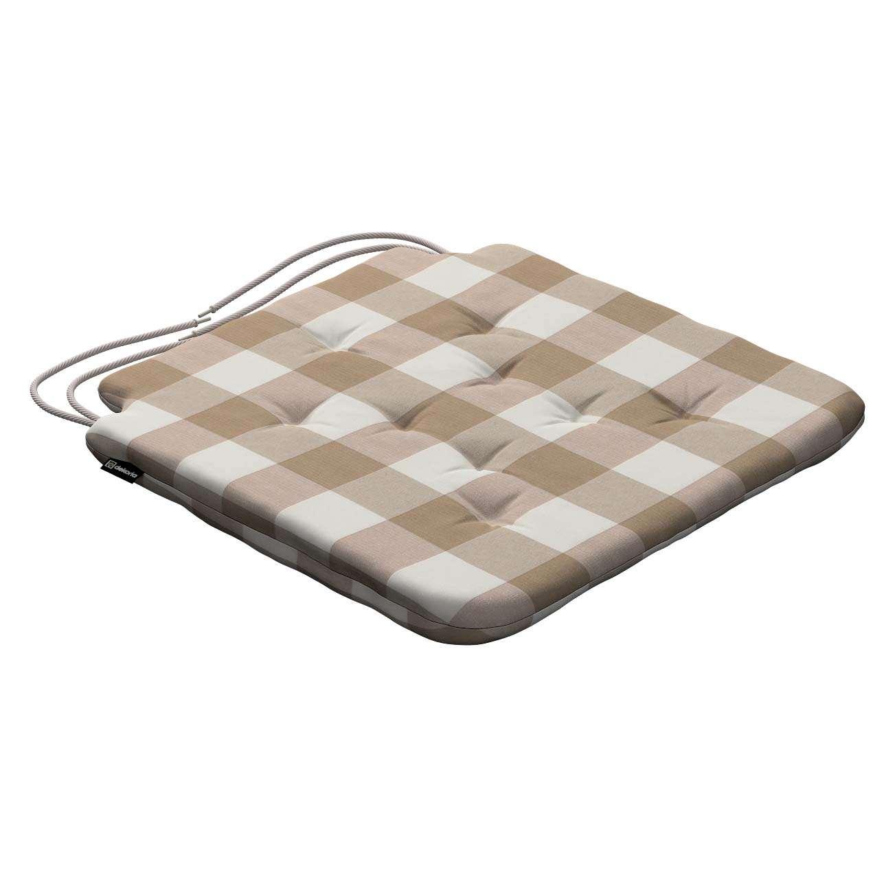 Siedzisko Olek na krzesło 42x41x3,5cm w kolekcji Quadro, tkanina: 136-08