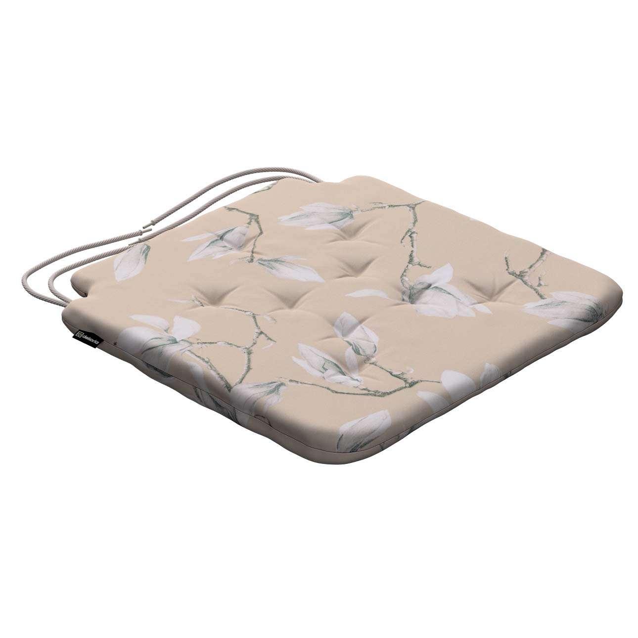 Siedzisko Olek na krzesło 42x41x3,5cm w kolekcji Flowers, tkanina: 311-12