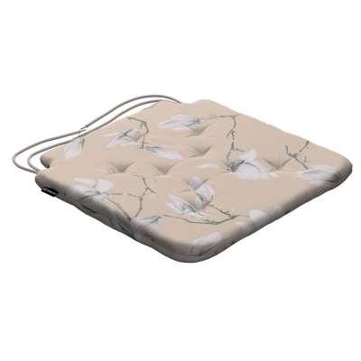Siedzisko Olek na krzesło 311-12 magnolie na beżowym tle Kolekcja Flowers