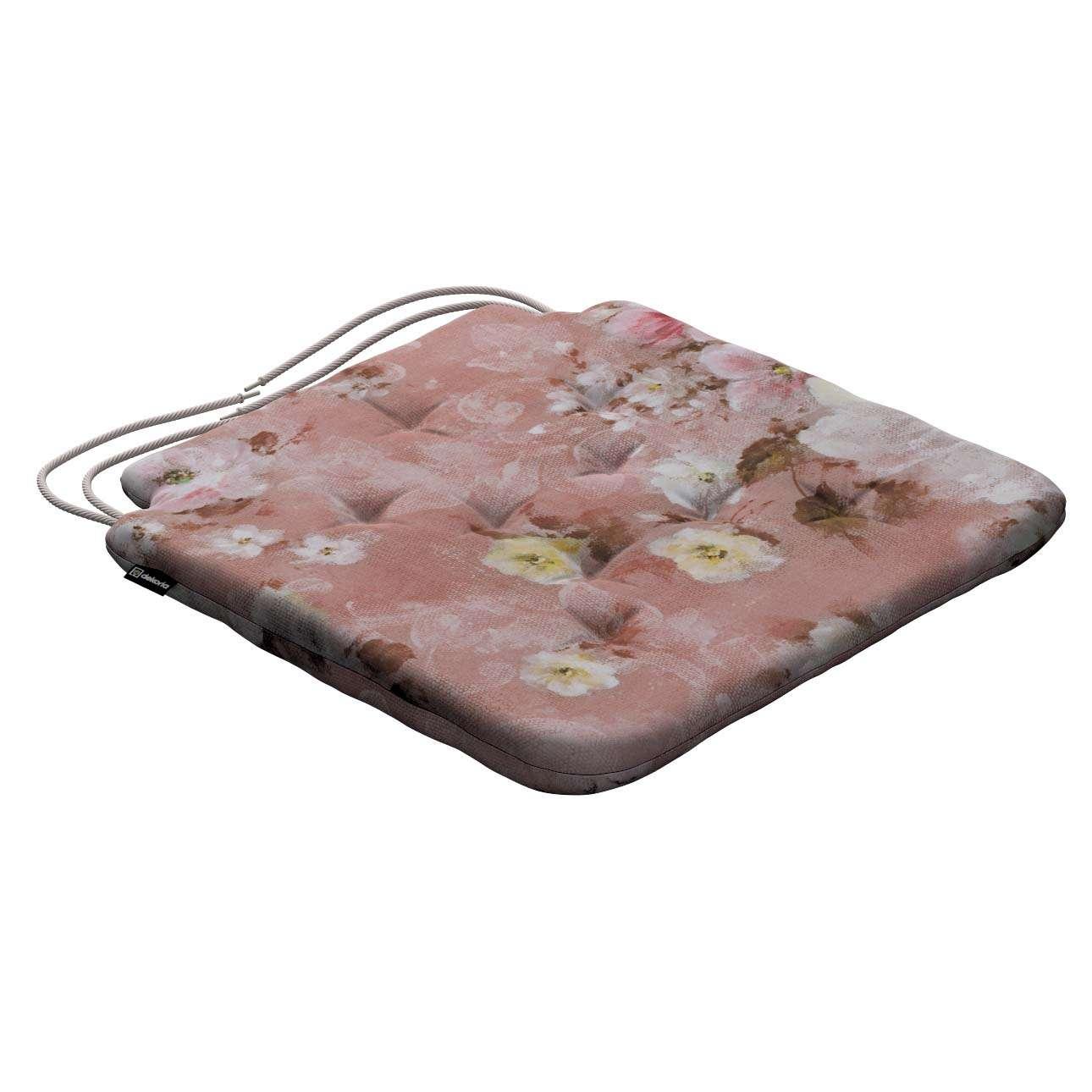 Siedzisko Olek na krzesło 42x41x3,5cm w kolekcji Monet, tkanina: 137-83