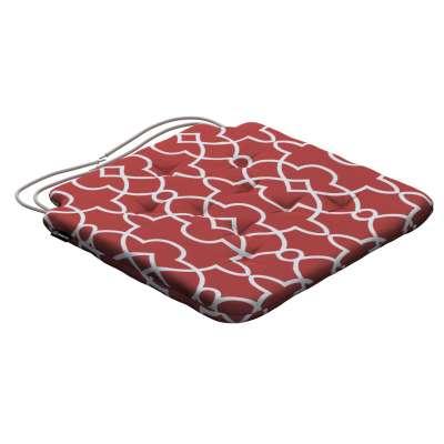 Siedzisko Olek na krzesło 142-21 czerwony w biały marokański wzór Kolekcja Gardenia