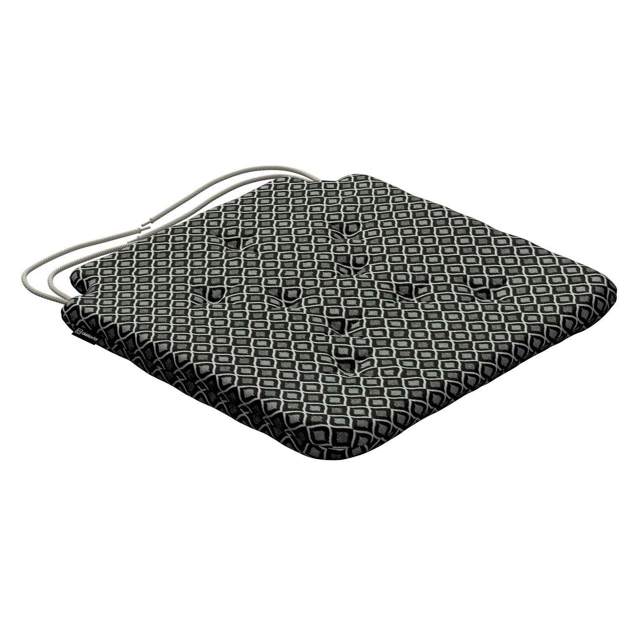 Siedzisko Olek na krzesło w kolekcji Black & White, tkanina: 142-86