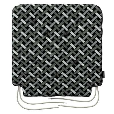 Siedzisko Olek na krzesło 142-87 czarno-biały Kolekcja Black & White