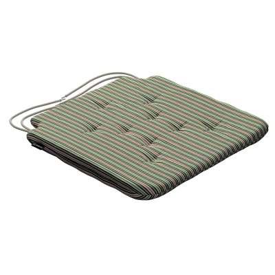 Siedzisko Olek na krzesło 143-42 pasy w odcieniach zieleni i czerwieni Kolekcja Londres