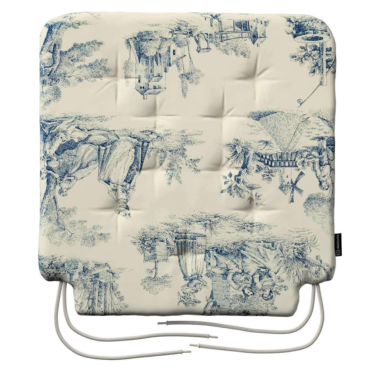 Siedzisko Olek na krzesło 42x41x3,5cm w kolekcji Avinon, tkanina: 132-66