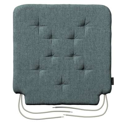 Oleg seat pad with ties 704-85 gray blue chenille Collection City