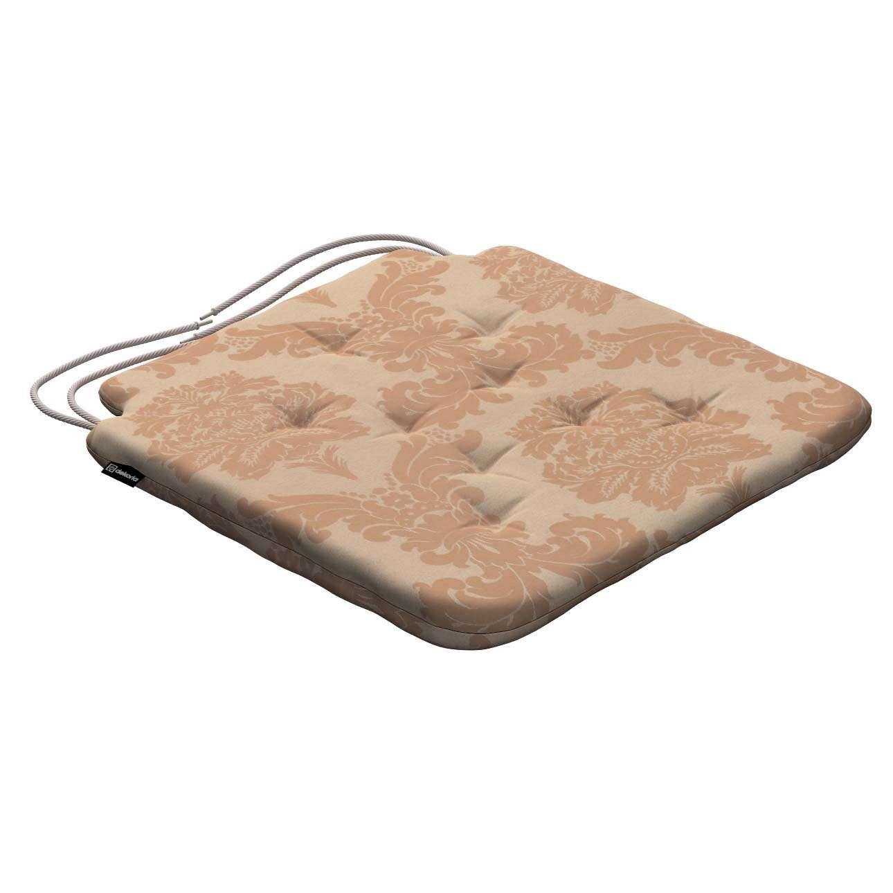 Siedzisko Olek na krzesło 42x41x3,5cm w kolekcji Damasco, tkanina: 613-04