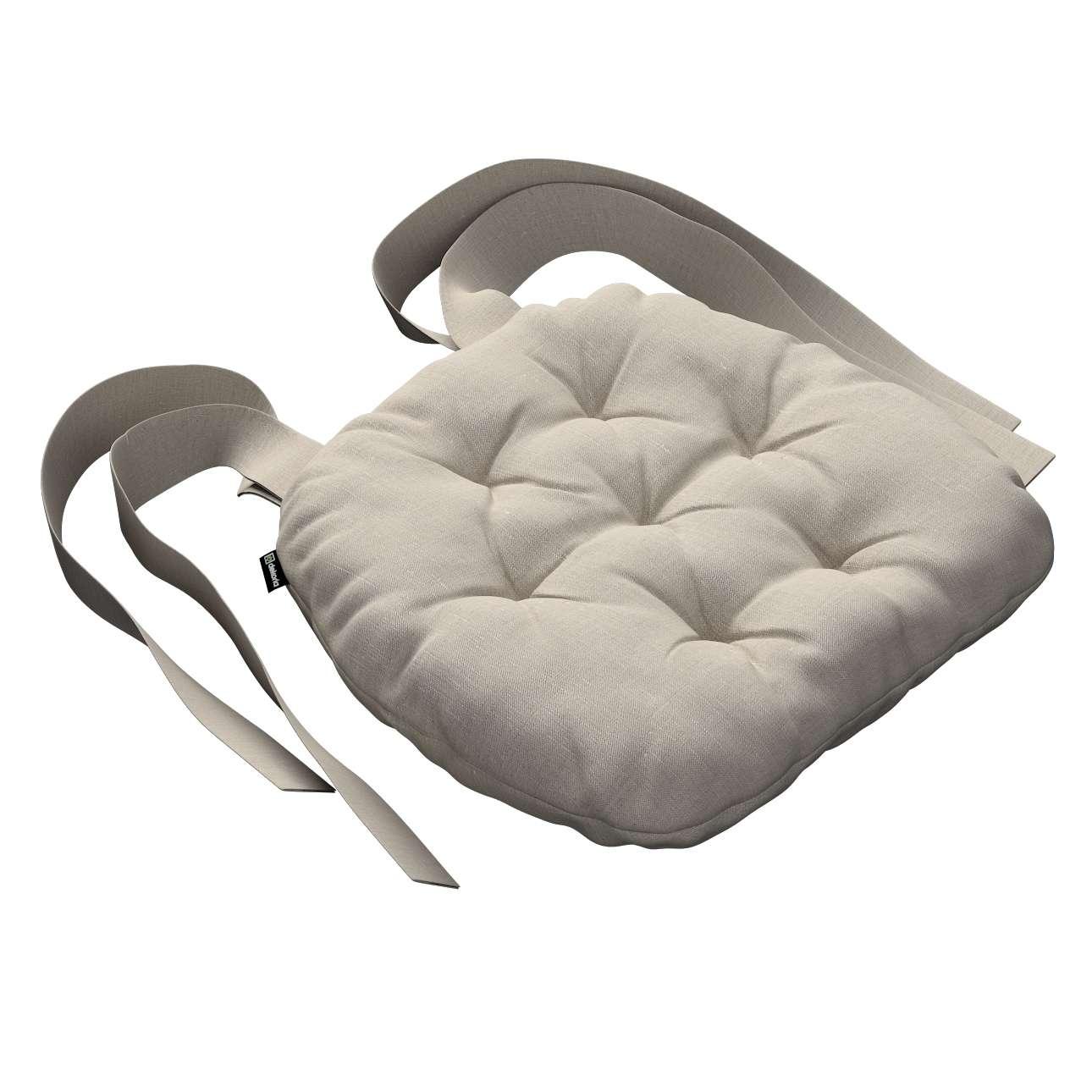 Siedzisko Marcin na krzesło 40x37x8cm w kolekcji Linen, tkanina: 392-05
