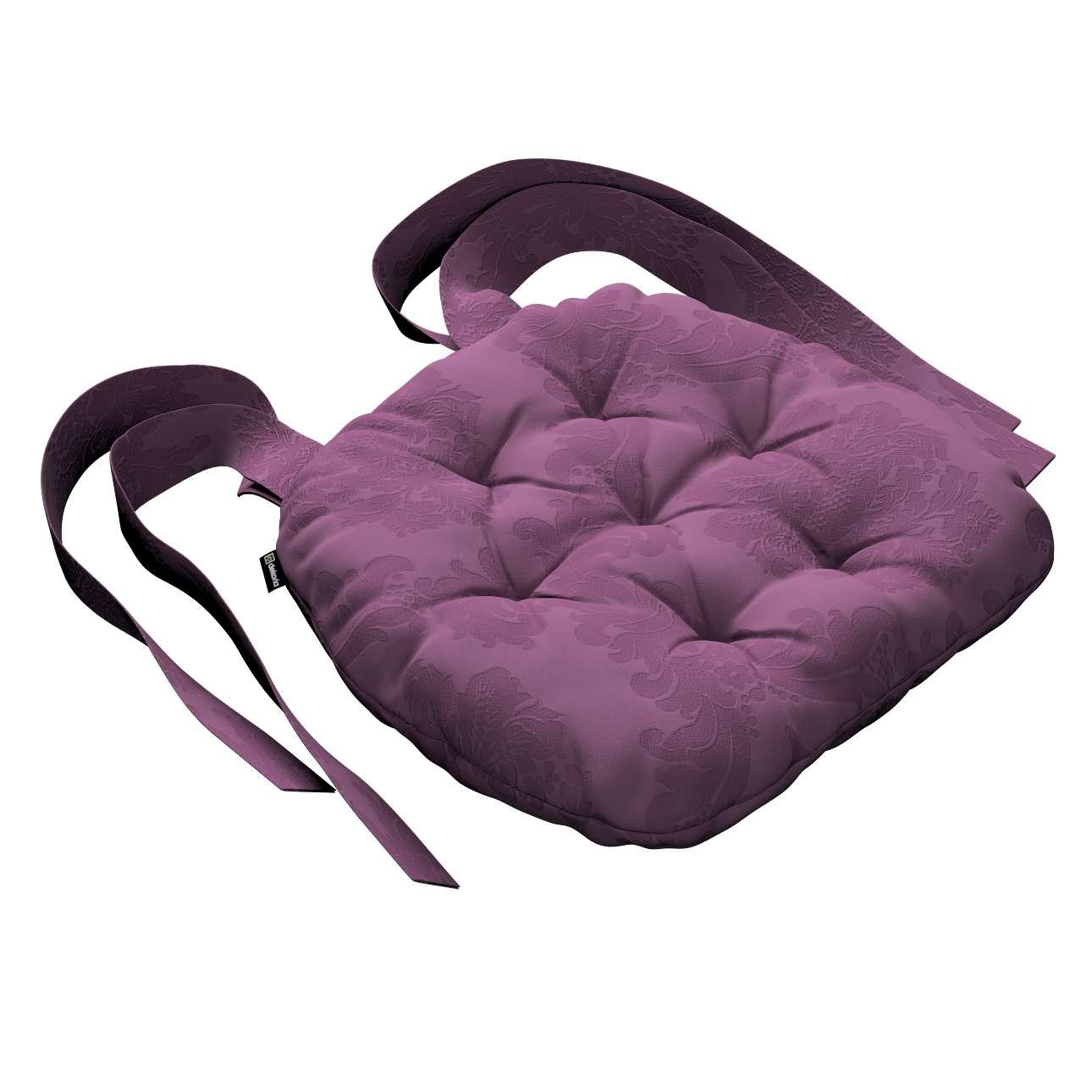 Kėdės pagalvėlė Marcin (apvaliais kraštais) 40 x 37 x 8 cm kolekcijoje Damasco, audinys: 613-75
