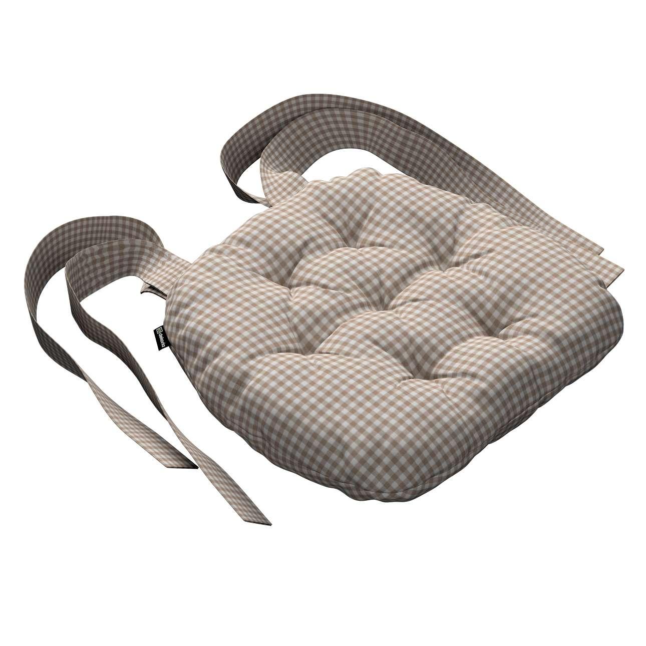 Kėdės pagalvėlė Marcin (apvaliais kraštais) 40 x 37 x 8 cm kolekcijoje Quadro, audinys: 136-05