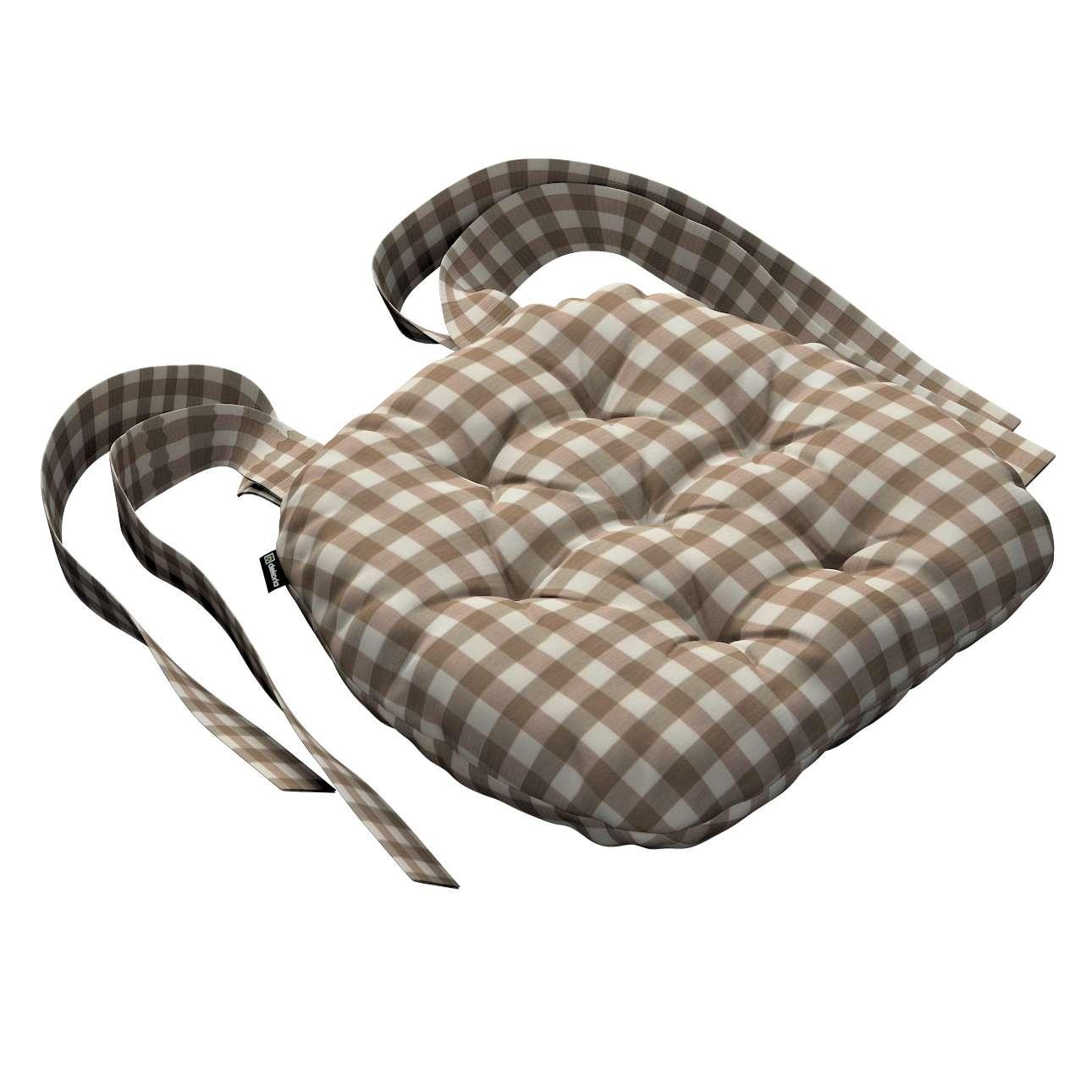 Kėdės pagalvėlė Marcin (apvaliais kraštais) 40 x 37 x 8 cm kolekcijoje Quadro, audinys: 136-06