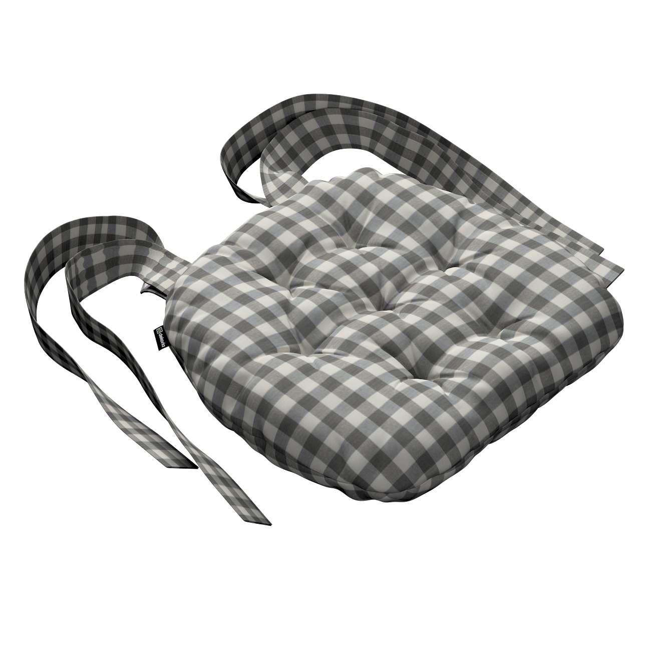 Kėdės pagalvėlė Marcin (apvaliais kraštais) 40 x 37 x 8 cm kolekcijoje Quadro, audinys: 136-11