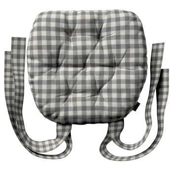 Stuhlkissen Martin mit Schleifen von der Kollektion Quadro, Stoff: 136-11