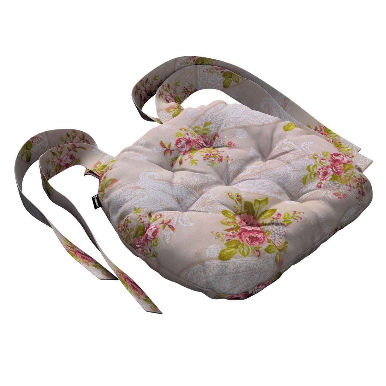 Kėdės pagalvėlė Marcin (apvaliais kraštais) kolekcijoje Flowers, audinys: 311-15