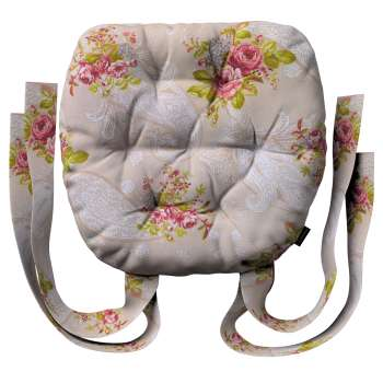 Siedzisko Marcin na krzesło 40x37x8cm w kolekcji Flowers, tkanina: 311-15