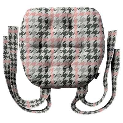 Siedzisko Marcin na krzesło 137-75 różowo-czarna pepitka Kolekcja do -50%