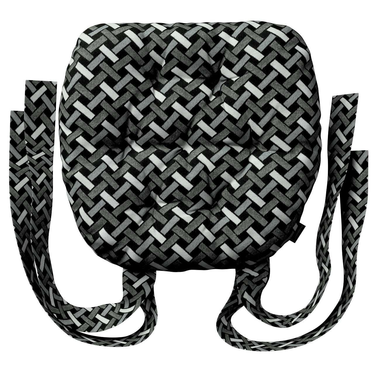Siedzisko Marcin na krzesło w kolekcji Black & White, tkanina: 142-87