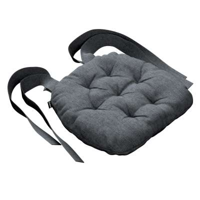 Martin seat pad with bows 704-86 graphite - gray Collection City