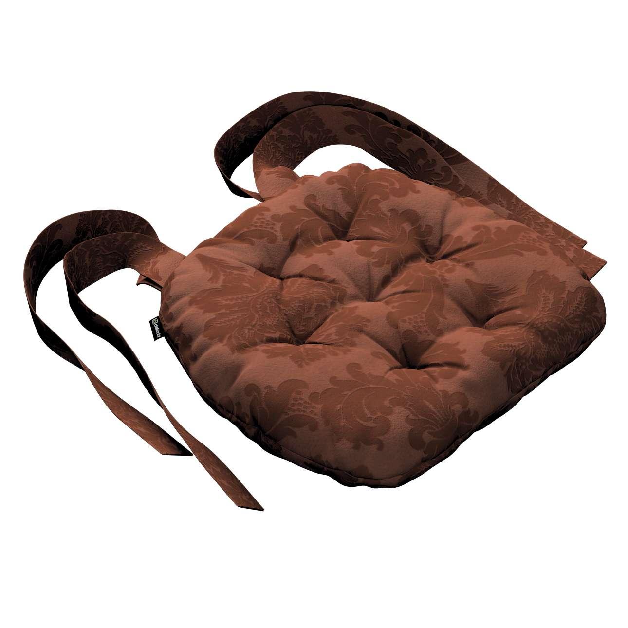 Siedzisko Marcin na krzesło 40x37x8cm w kolekcji Damasco, tkanina: 613-88