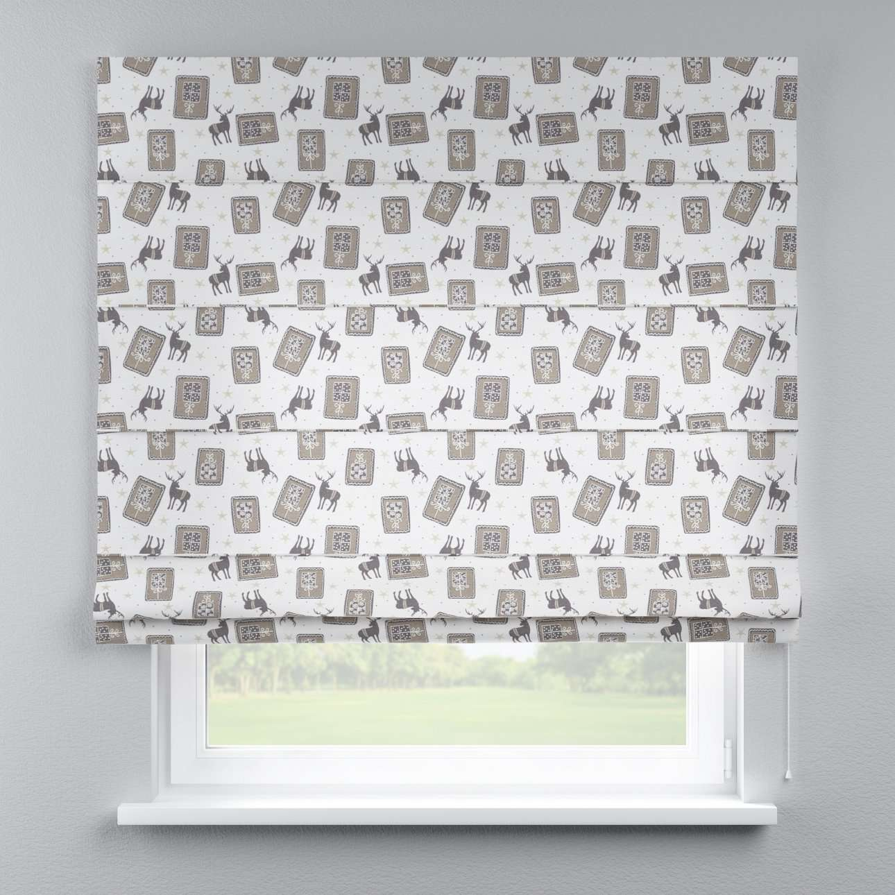 Capri roman blind 80 x 170 cm (31.5 x 67 inch) in collection Nordic, fabric: 630-10