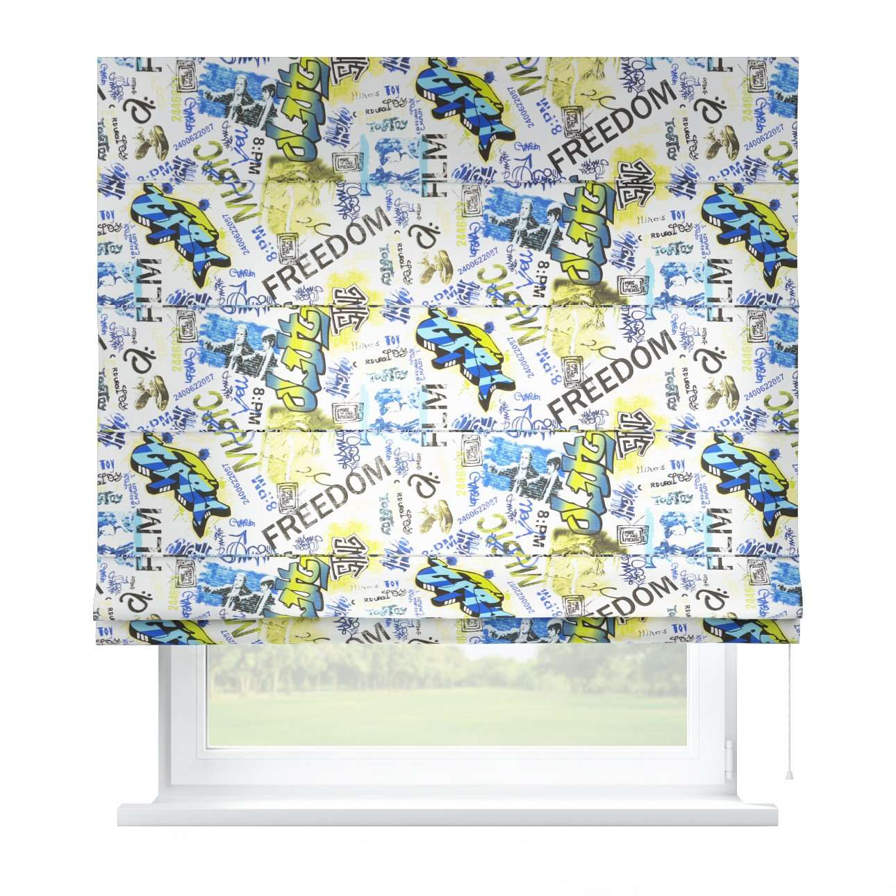 Capri roman blind 80 x 170 cm (31.5 x 67 inch) in collection Freestyle, fabric: 135-08