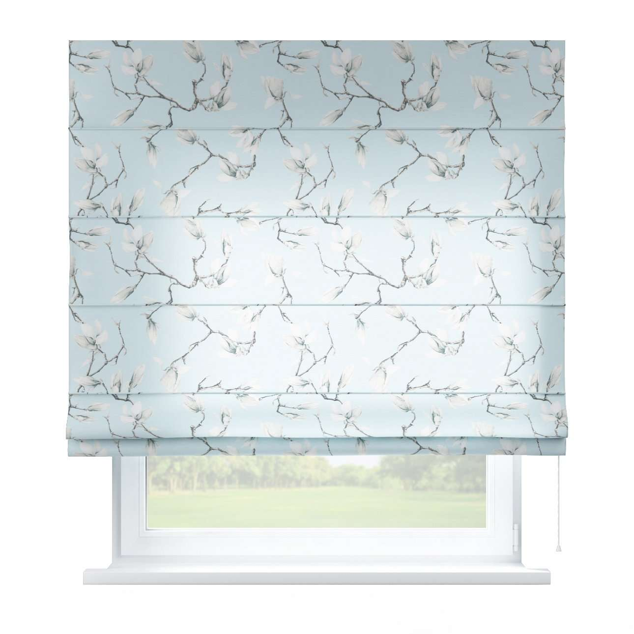 Capri roman blind 80 x 170 cm (31.5 x 67 inch) in collection Flowers, fabric: 311-14