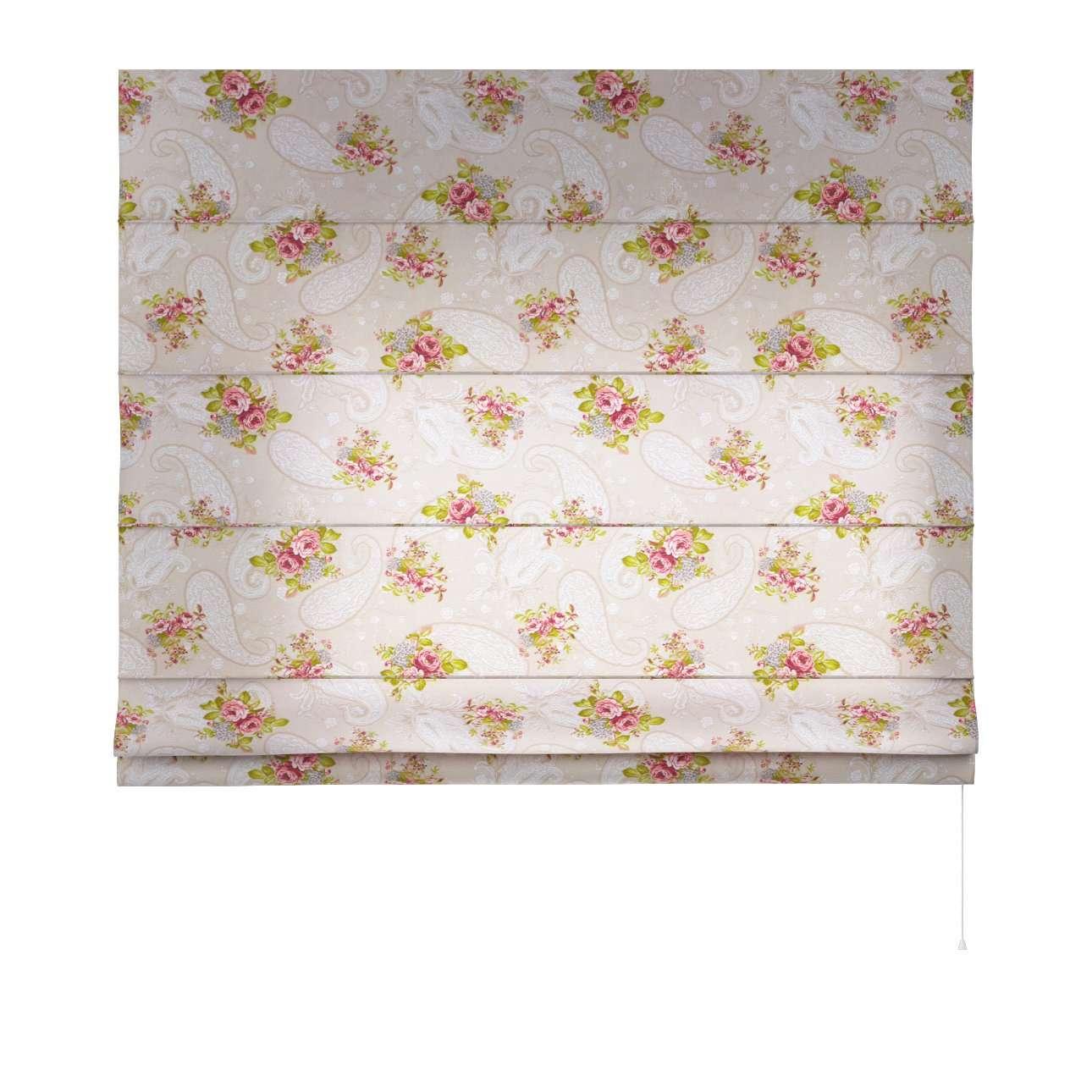 Raffrollo Capri 80 x 170 cm von der Kollektion Flowers, Stoff: 311-15