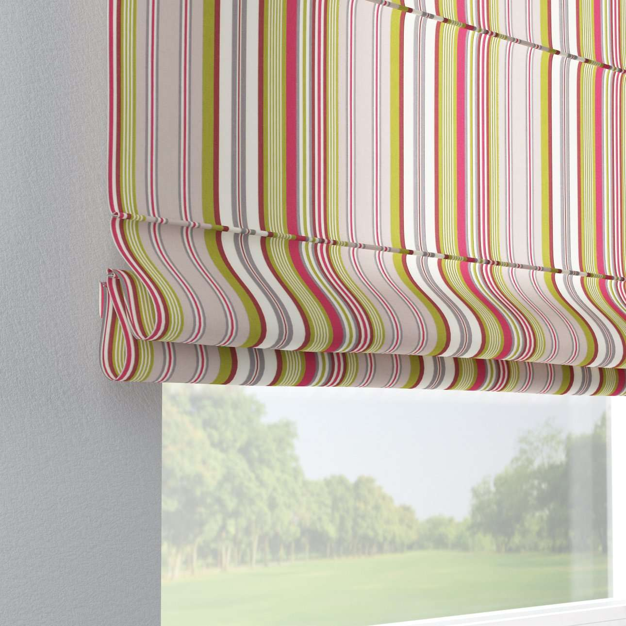 Capri roman blind 80 x 170 cm (31.5 x 67 inch) in collection Flowers, fabric: 311-16