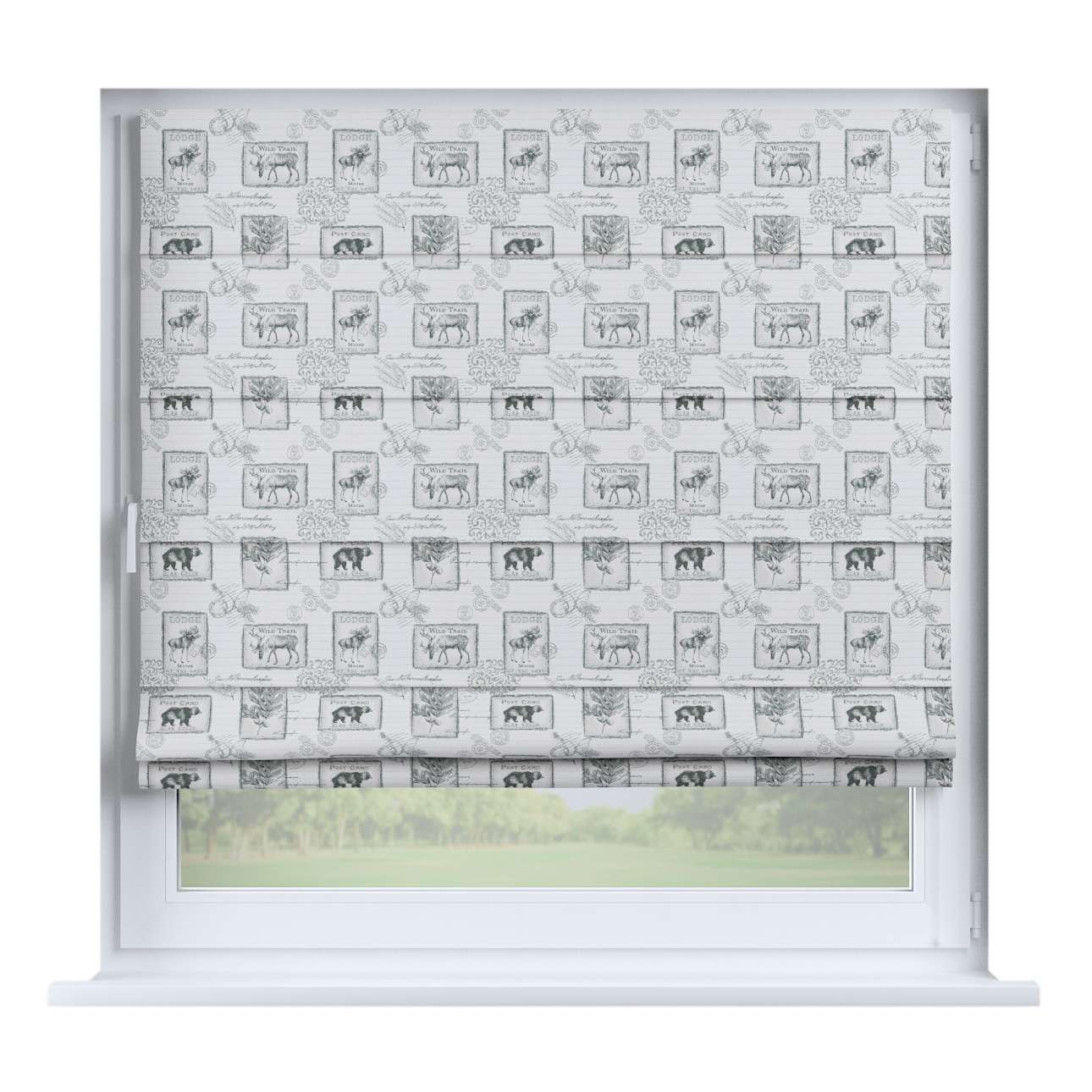 Capri roman blind 80 x 170 cm (31.5 x 67 inch) in collection Nordic, fabric: 630-18