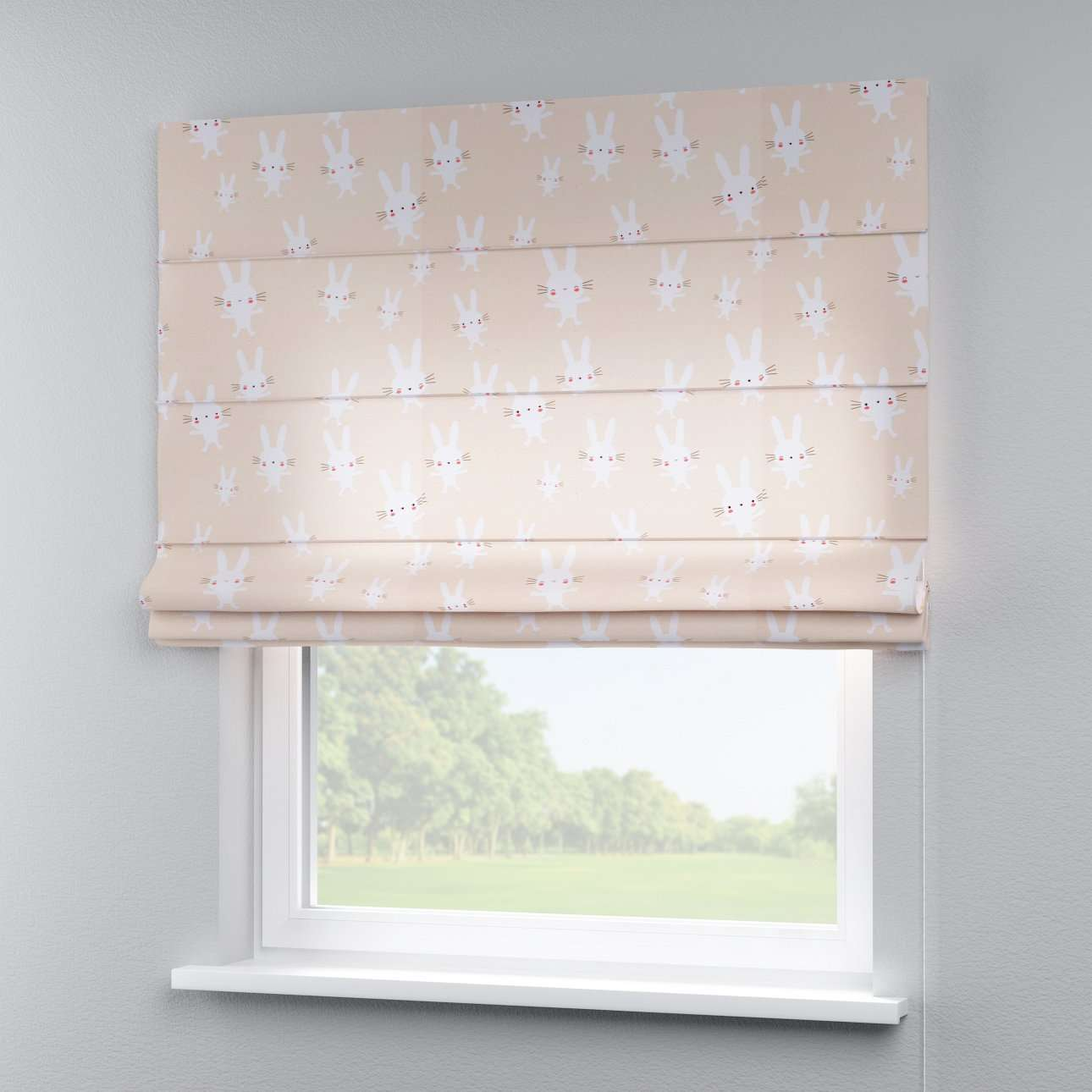Capri roman blind 80 x 170 cm (31.5 x 67 inch) in collection Apanona, fabric: 151-00