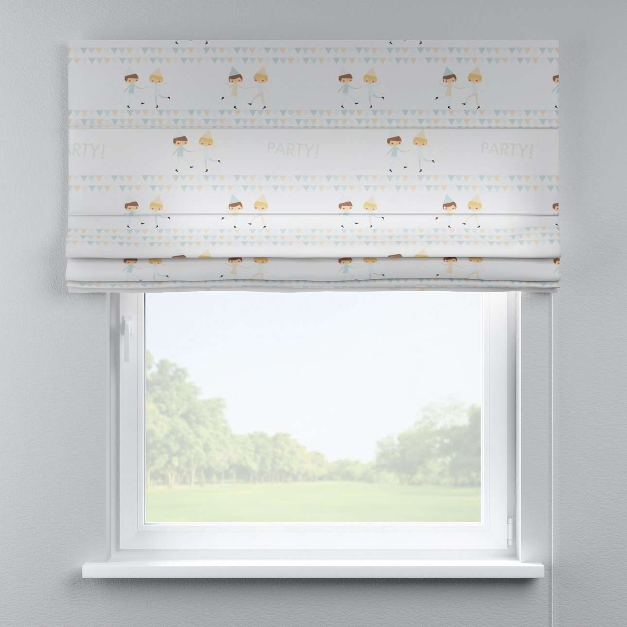 Capri roman blind 80 x 170 cm (31.5 x 67 inch) in collection Apanona, fabric: 151-01