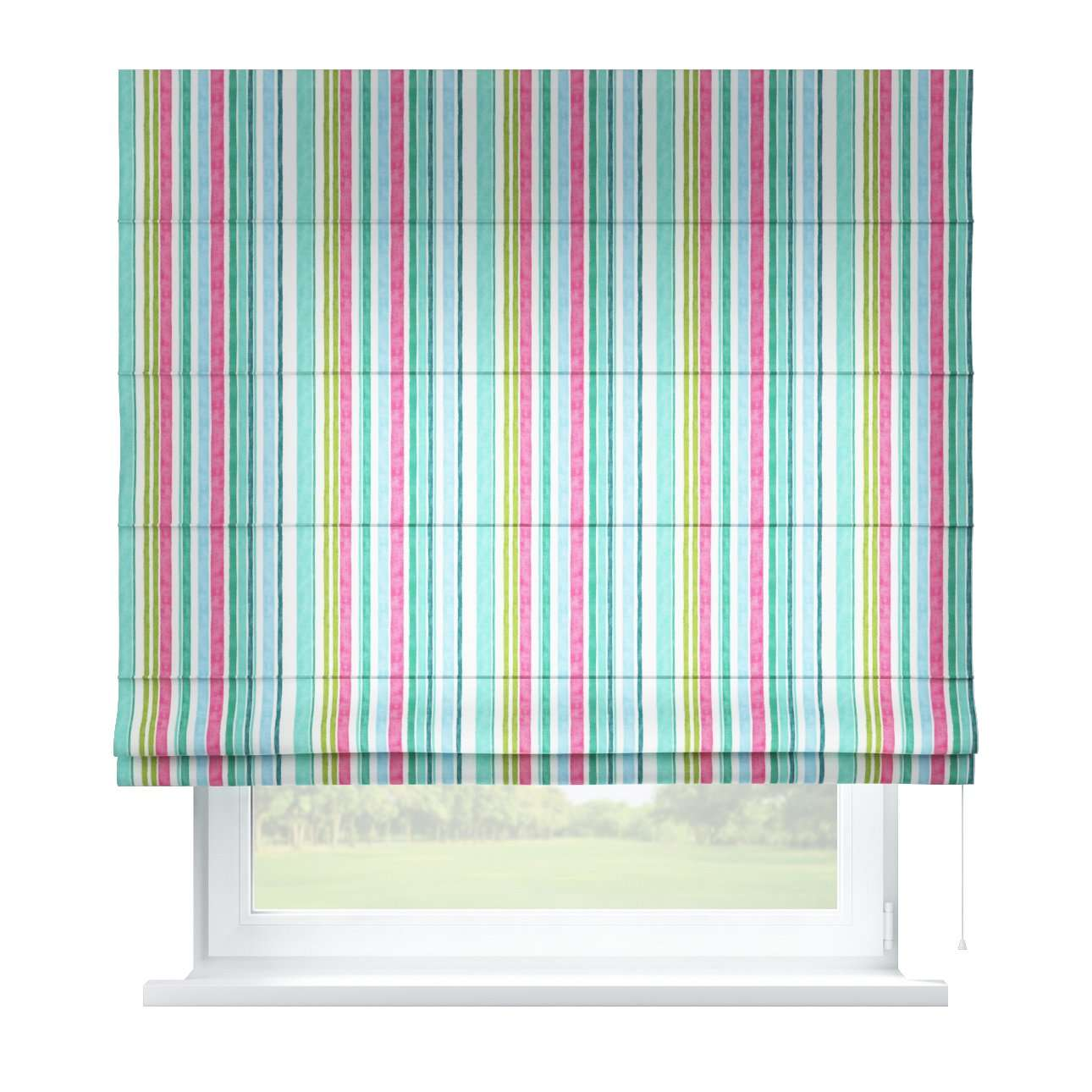 Capri roman blind 80 x 170 cm (31.5 x 67 inch) in collection Monet, fabric: 140-03