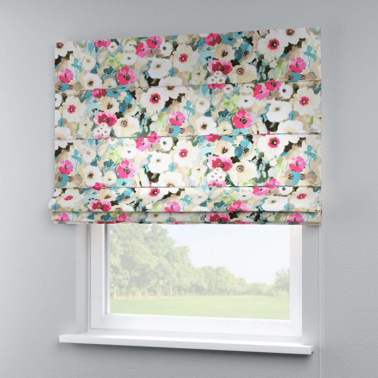 Capri roman blind 80 x 170 cm (31.5 x 67 inch) in collection Monet, fabric: 140-08