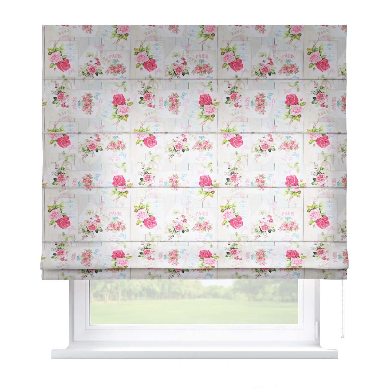 Capri roman blind 80 x 170 cm (31.5 x 67 inch) in collection Ashley, fabric: 140-19