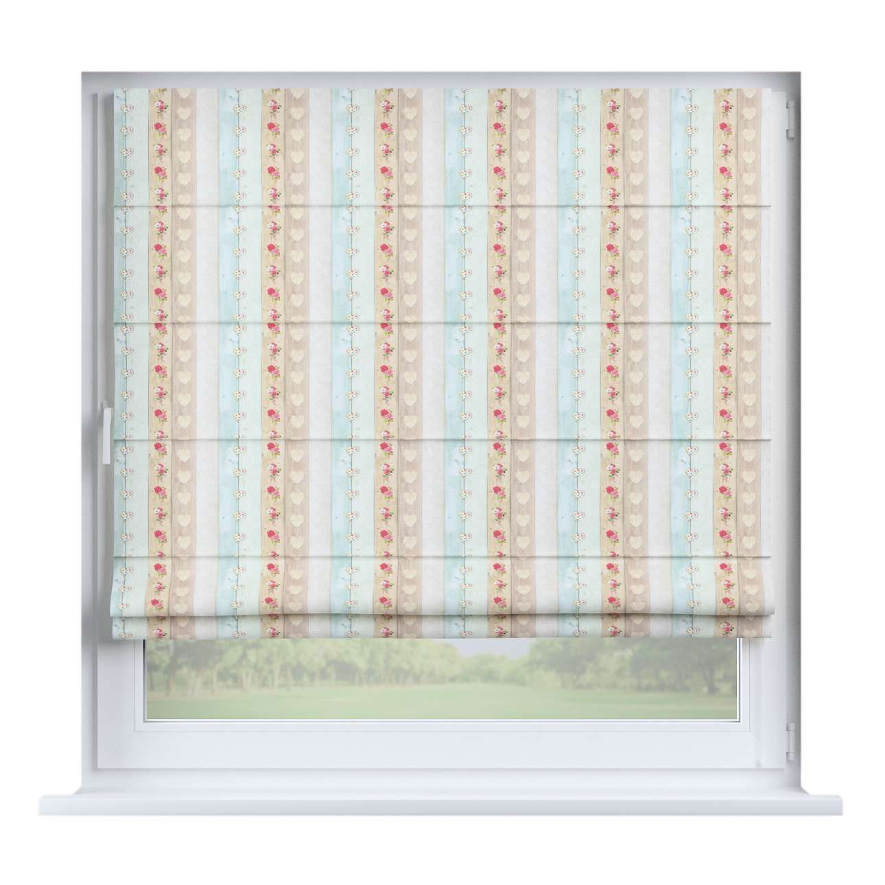 Capri roman blind 80 x 170 cm (31.5 x 67 inch) in collection Ashley, fabric: 140-20