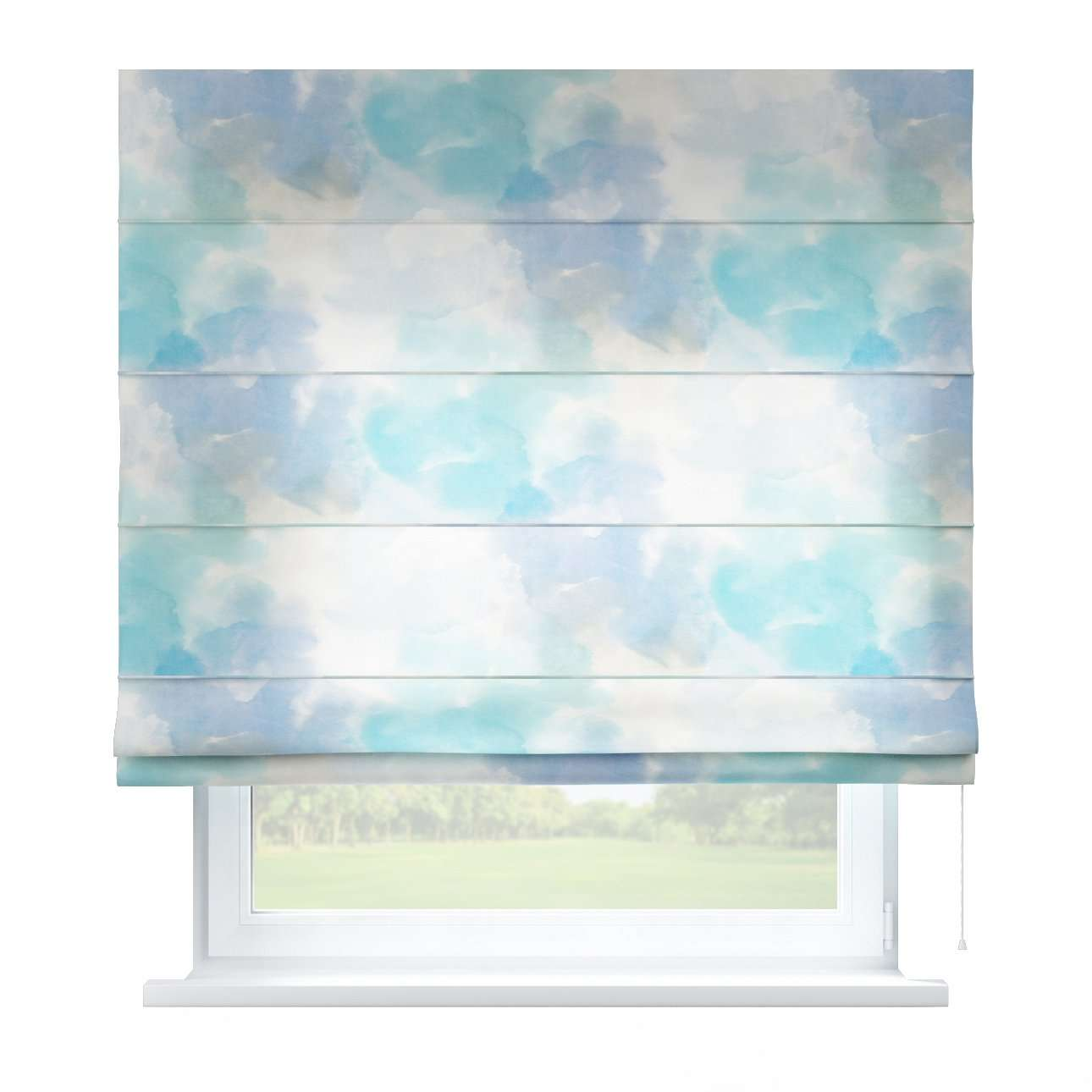 Capri roman blind 80 x 170 cm (31.5 x 67 inch) in collection Aquarelle, fabric: 140-67