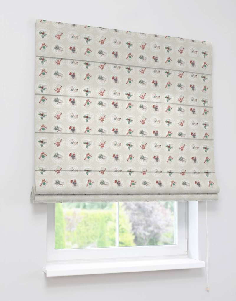 Capri roman blind in collection Christmas, fabric: 629-30