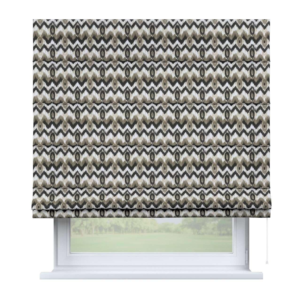 Raffrollo Capri, schwarz-beige, 100 × 170 cm, Modern