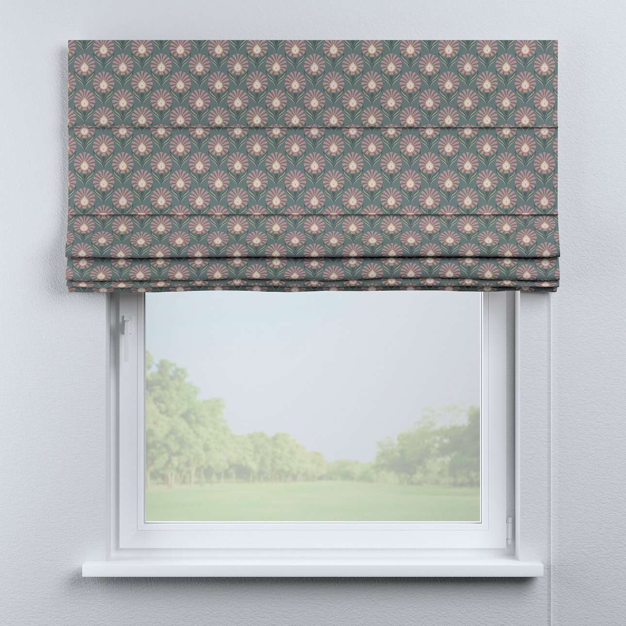 Capri roman blind in collection Gardenia, fabric: 142-17