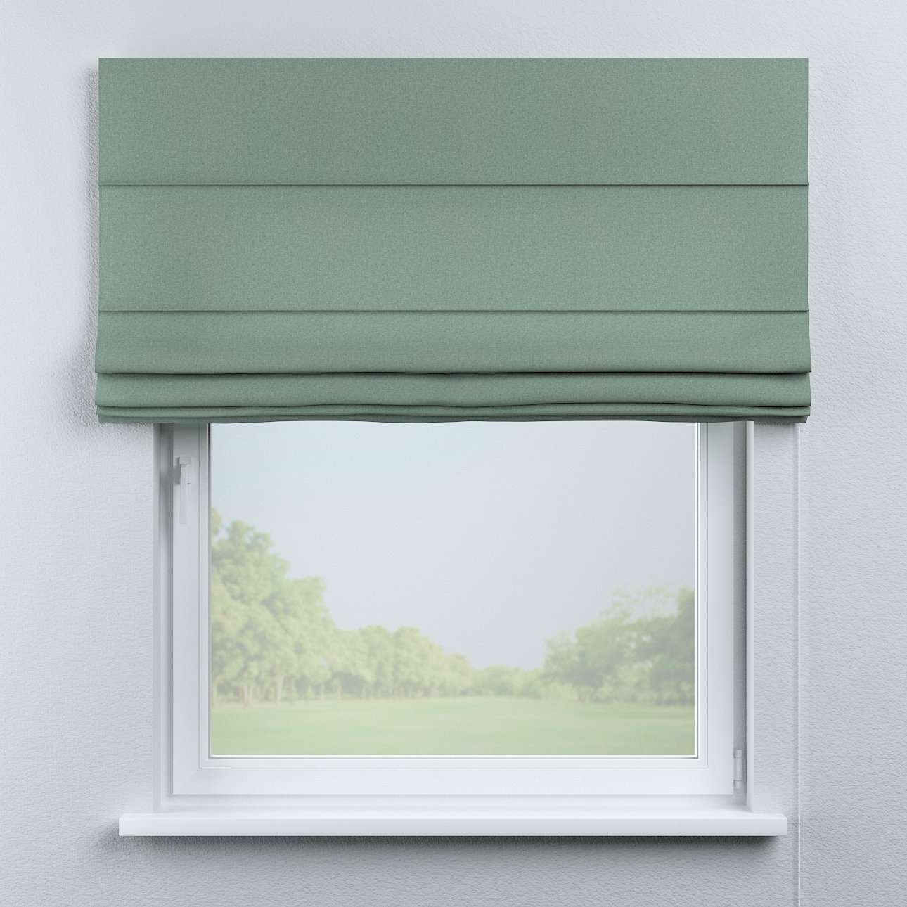 Capri roman blind in collection Woolly, fabric: 142-31